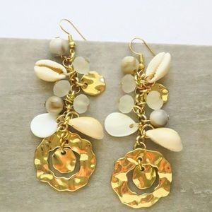 ⭐️SALE⭐️Hammered Coastal Shell Dangle Earrings